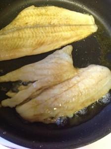 hake in frying pan