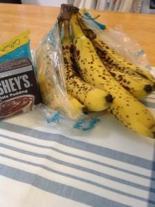 overripe bananas & pudding